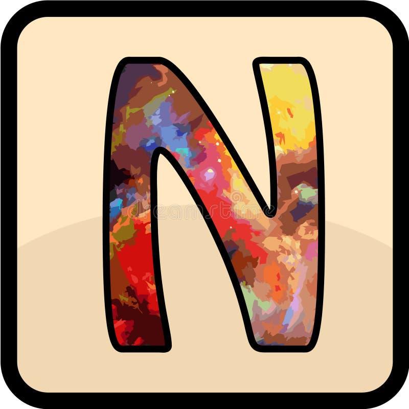 信件颜色设计艺术 库存例证