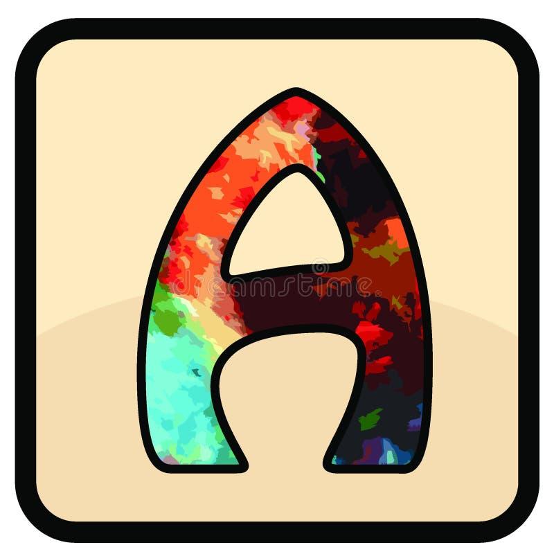 信件颜色设计艺术 皇族释放例证