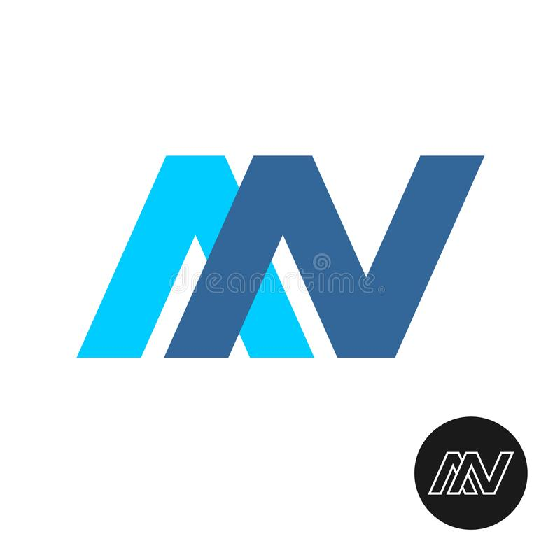 信件A和N绷带商标 颜色标志 向量例证