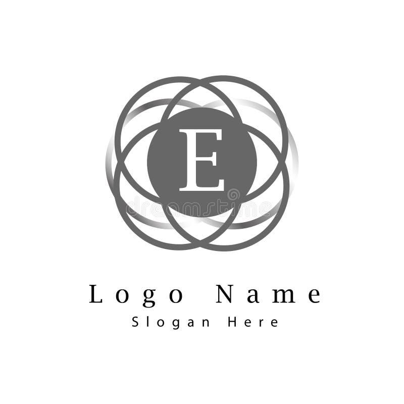 信件E商标有无限圈子背景 库存例证