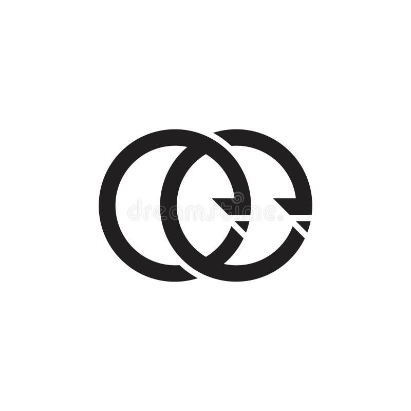 信件ee圈子箭头连接了几何商标传染媒介 库存例证