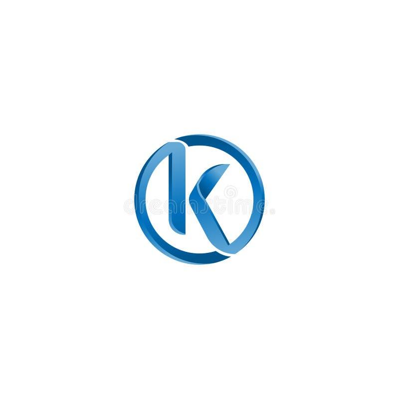 信件K商标最初传染媒介标记 K信件摘要传染媒介商标设计模板 创造性的印刷概念象 向量例证