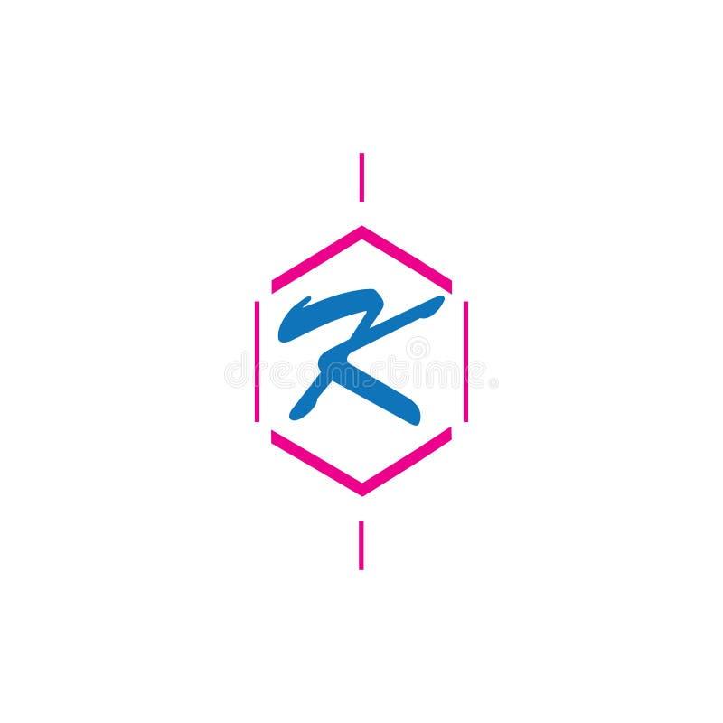 信件K商标象设计模板元素 皇族释放例证