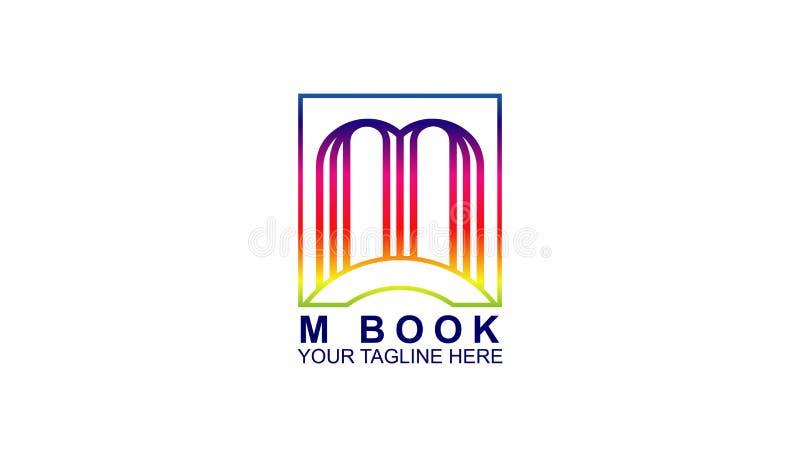 信件M书商标设计模板,现代商标 免版税库存照片