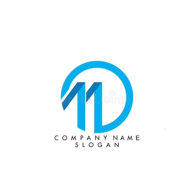 信件M商标设计 库存例证