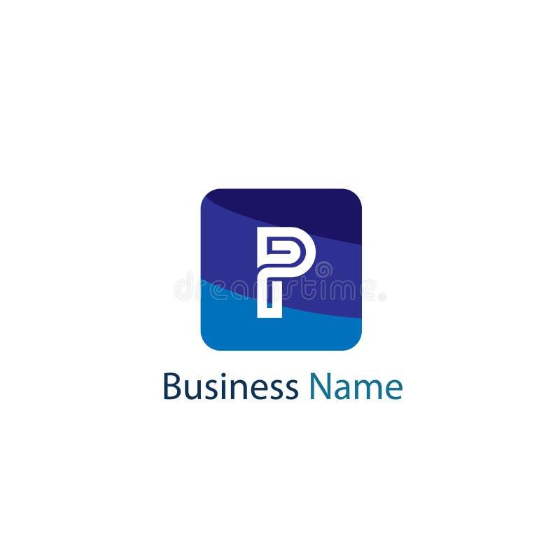 信件P商标设计 库存例证