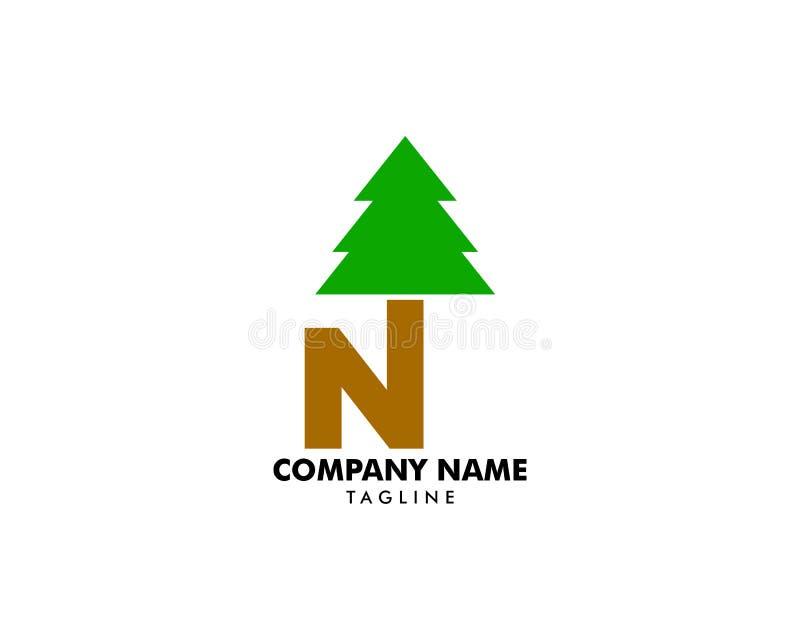 信件P最初的松树商标象传染媒介启发 皇族释放例证