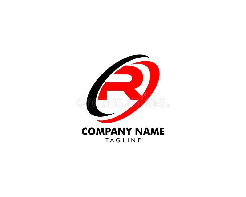 信件R与swoosh设计的商标标志 向量例证