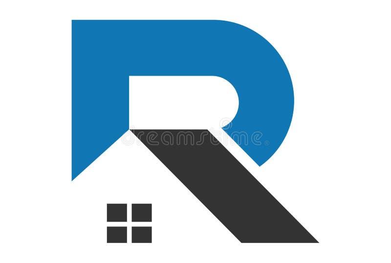 信件R回家商标传染媒介dsign 向量例证