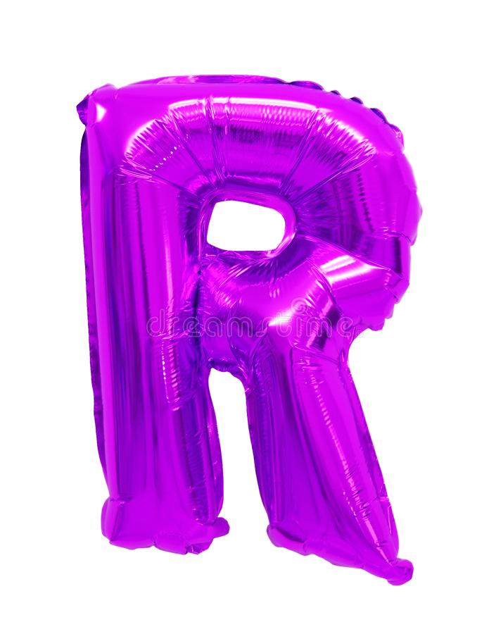信件r英语字母表紫色,紫罗兰 库存照片