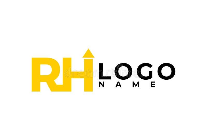 信件RH商标设计 向量例证