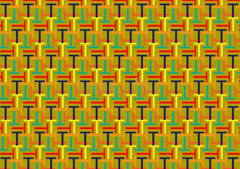 信件T样式用不同的色的树荫 库存例证