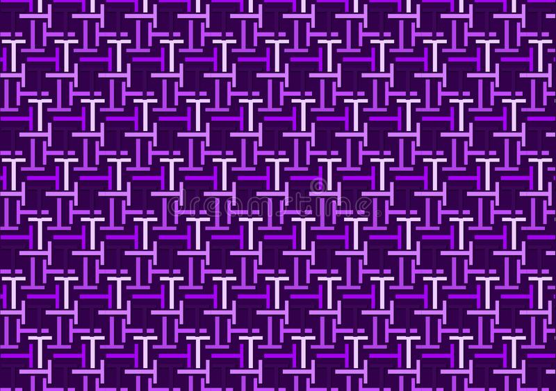 信件T样式用不同的色的紫色树荫 皇族释放例证