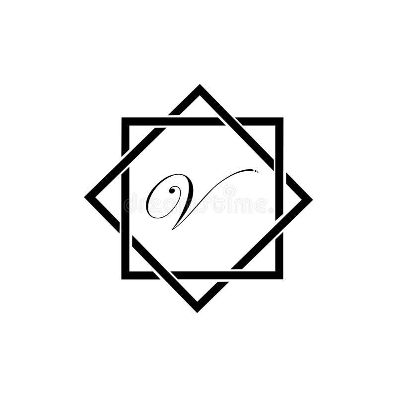 信件v企业公司抽象团结传染媒介商标设计模板 皇族释放例证