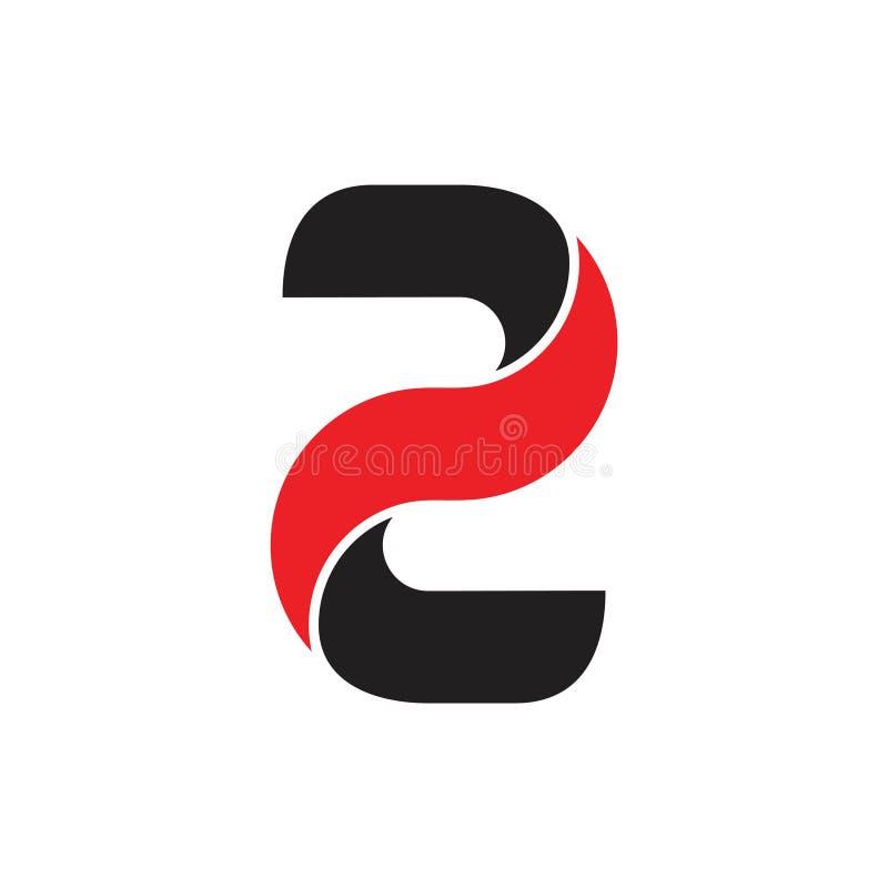 信件z转弯3d几何商标传染媒介 库存例证