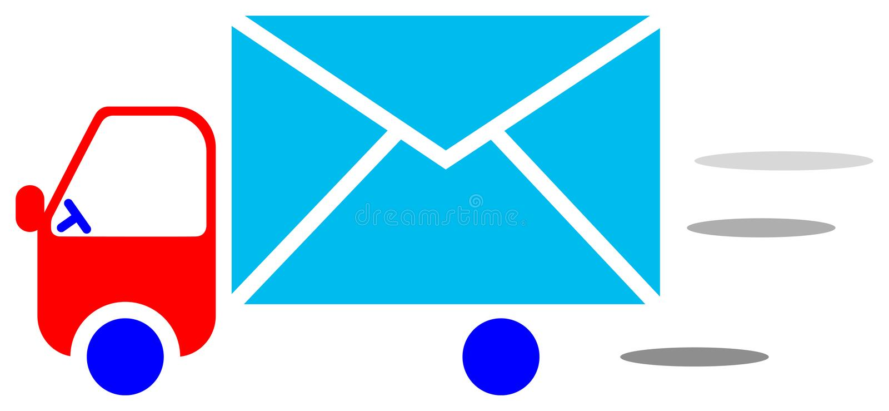 信使徽标 库存例证