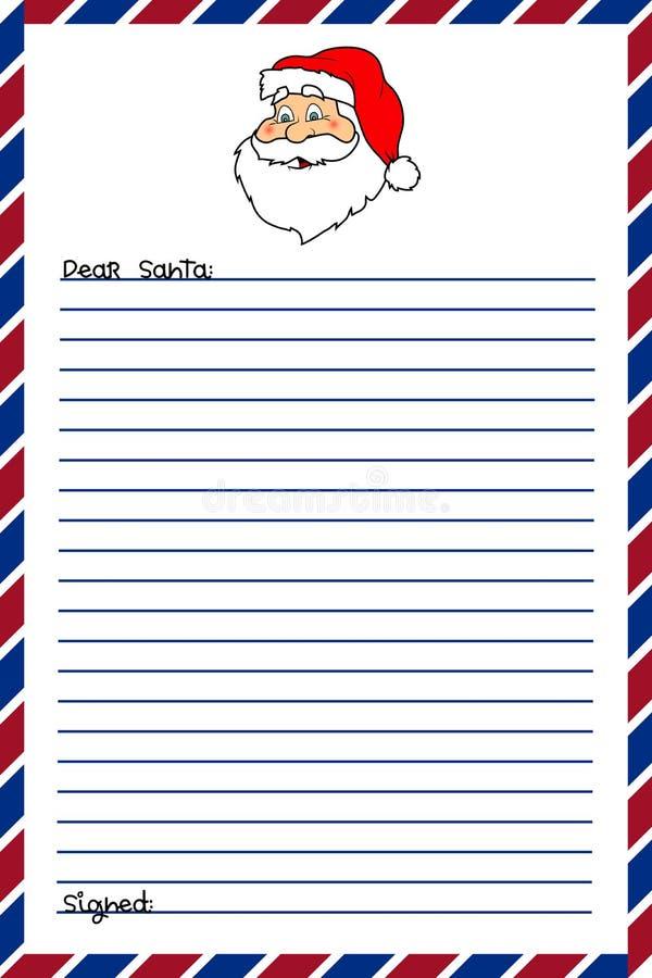 信函圣诞老人 库存例证