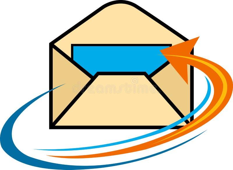 信函徽标 向量例证