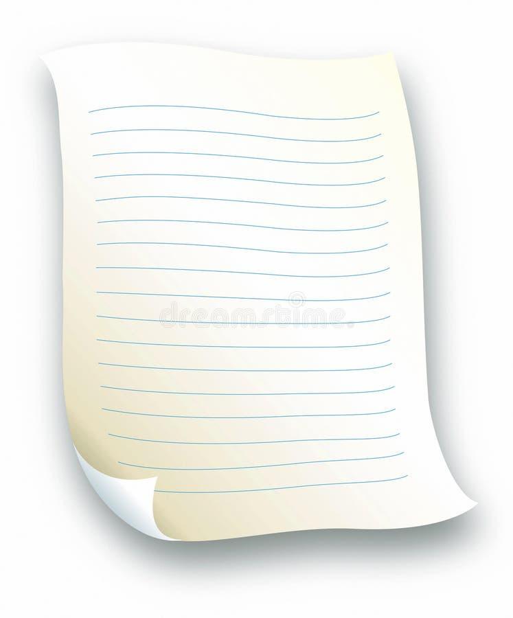 信函被排行的纸张 向量例证