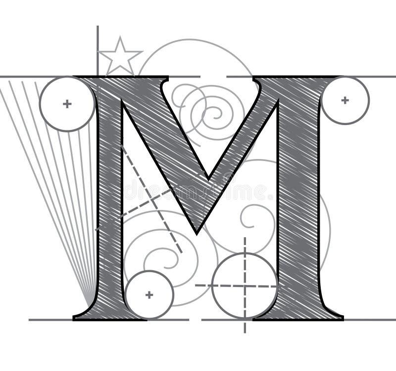 信函m 向量例证