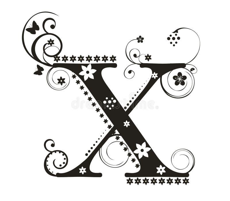 信函x 库存例证
