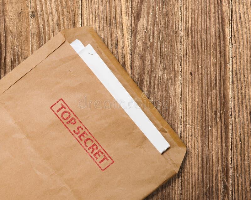 信包公开的秘密台式 图库摄影