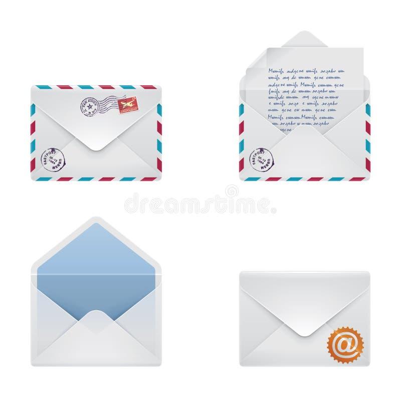 信包图标集合向量 皇族释放例证