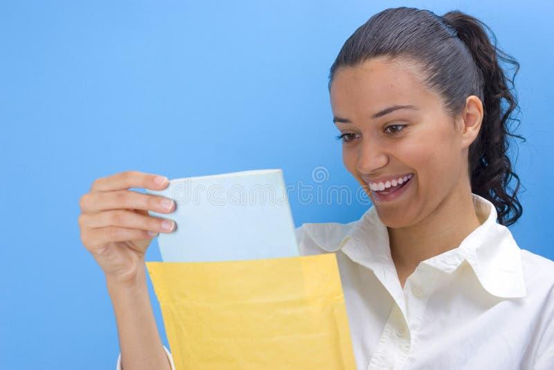 信包女孩 免版税图库摄影