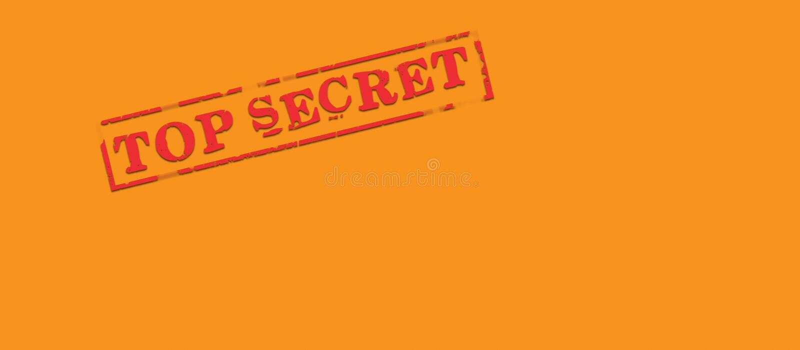 信包秘密顶层 库存例证