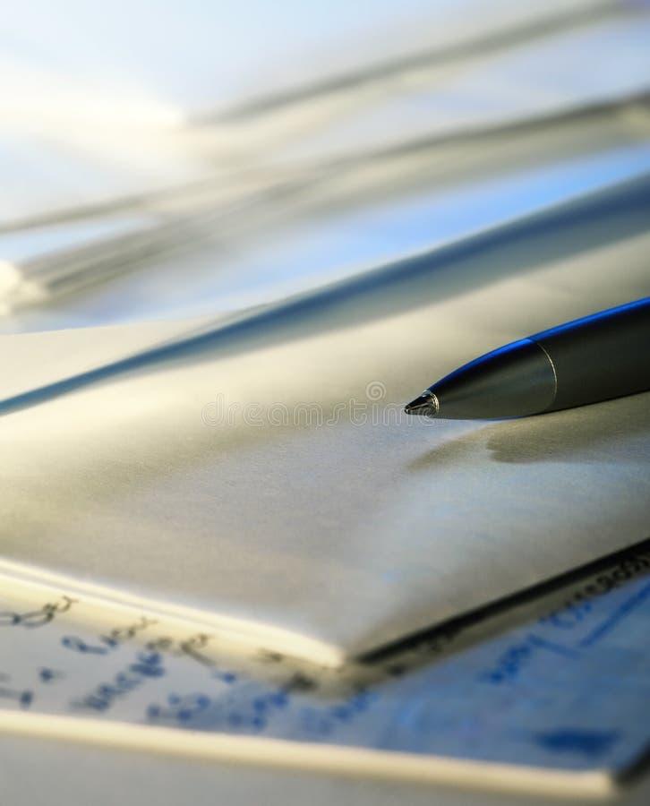 信包笔明信片 库存图片