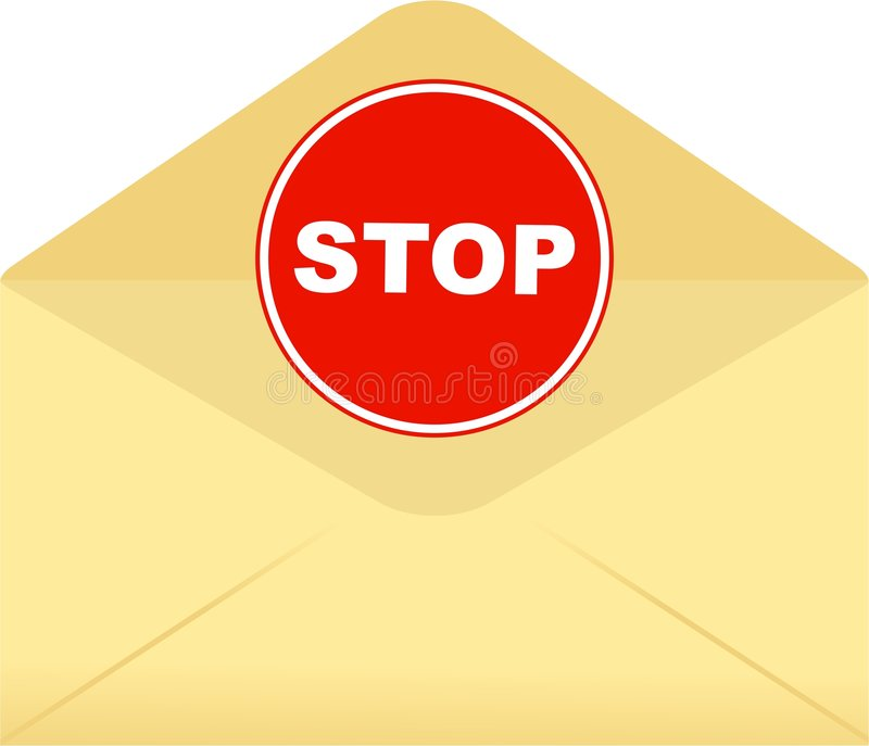 信包终止 向量例证
