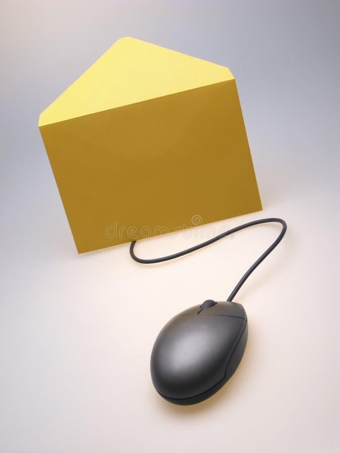 信包鼠标 库存照片