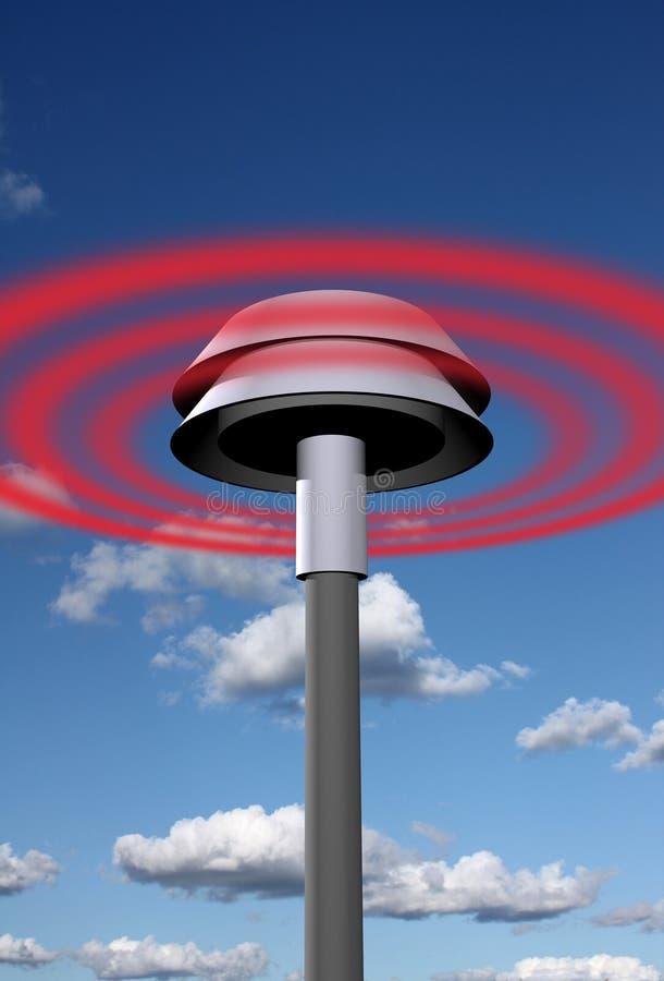 信号警报器警告 向量例证
