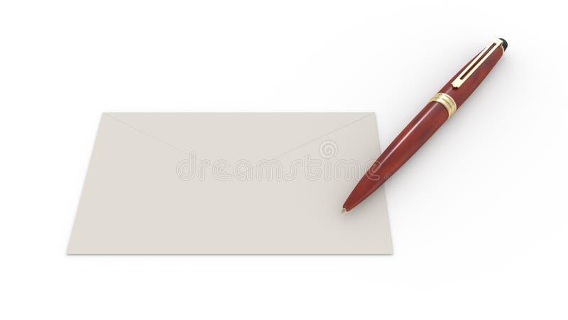 信封和笔 库存照片