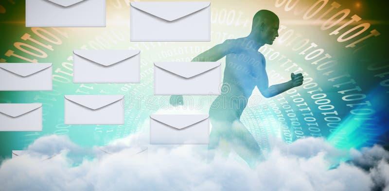 信封图表的综合图象在白色背景的 库存例证