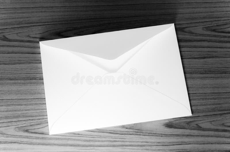 信封黑白颜色口气样式 图库摄影