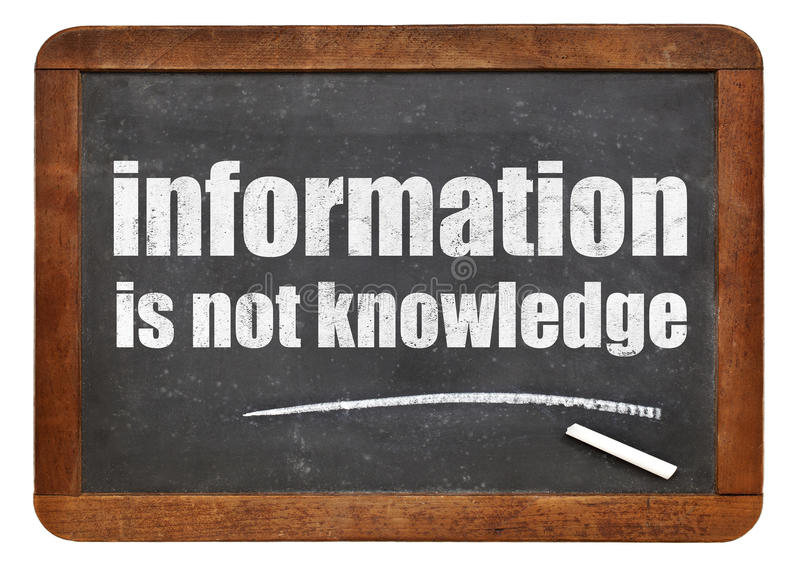 信息不是知识行情 免版税库存图片