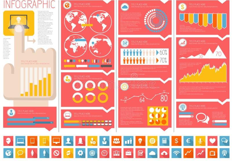 信息业Infographic元素 向量例证