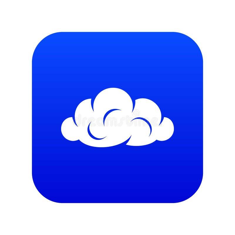 信息云彩象蓝色传染媒介 向量例证