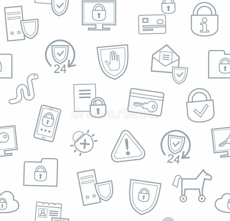 信息保护,无缝的背景,白色,平 向量例证