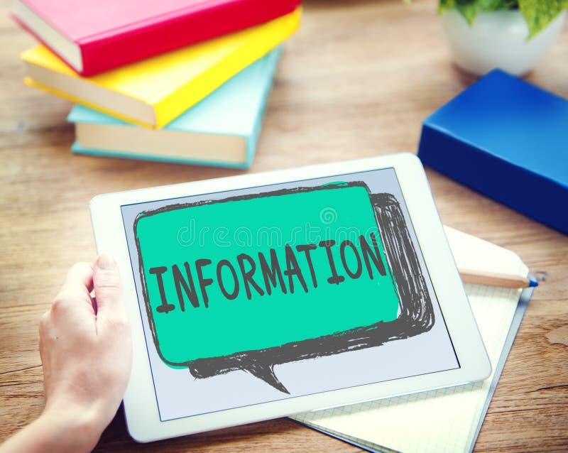 信息信息分享概念的教育媒体研究 免版税库存图片