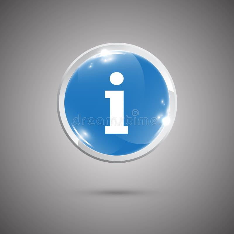 信息光滑的按钮 皇族释放例证