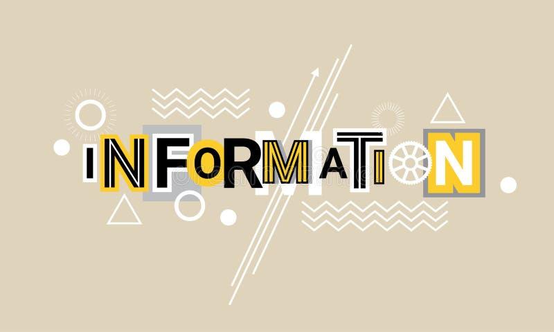 信息和全球性数据技术网横幅摘要模板背景 向量例证