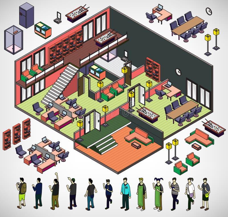 信息图表内部室概念的例证 皇族释放例证