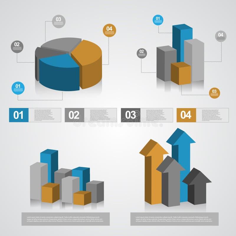 信息图表图 库存例证