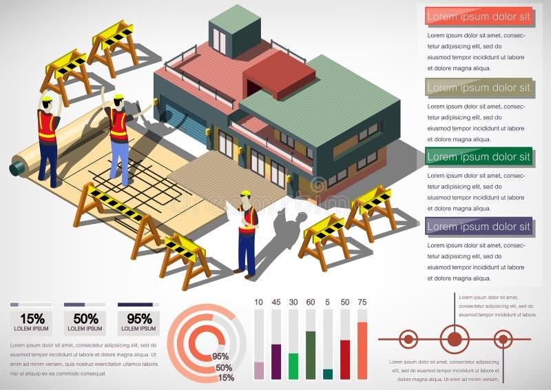 信息图表房子结构概念的例证 库存例证