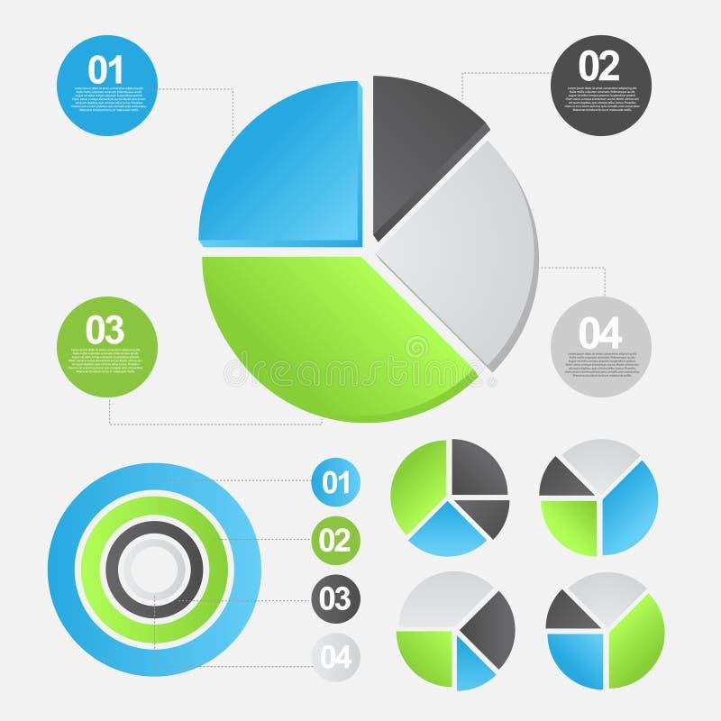 信息图表模板 向量例证