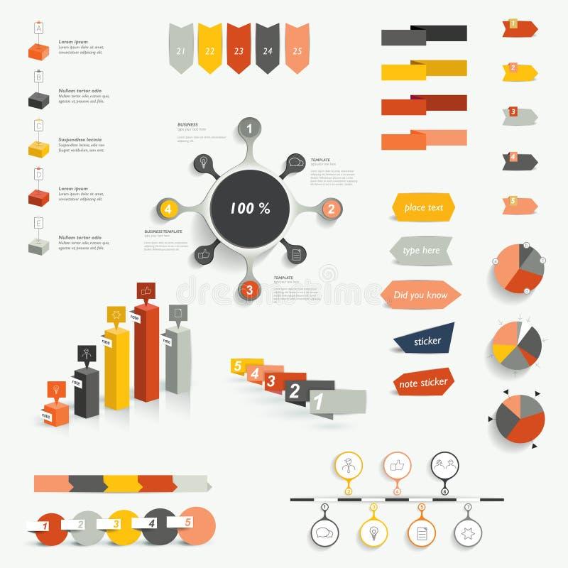 信息图表的汇集 库存例证