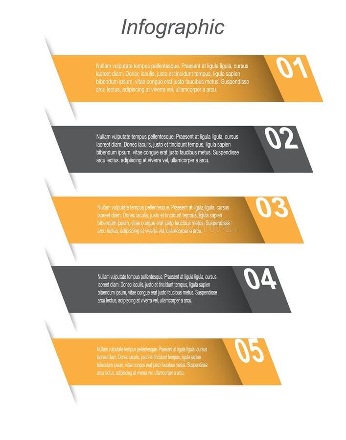 信息图表设计模板 库存例证