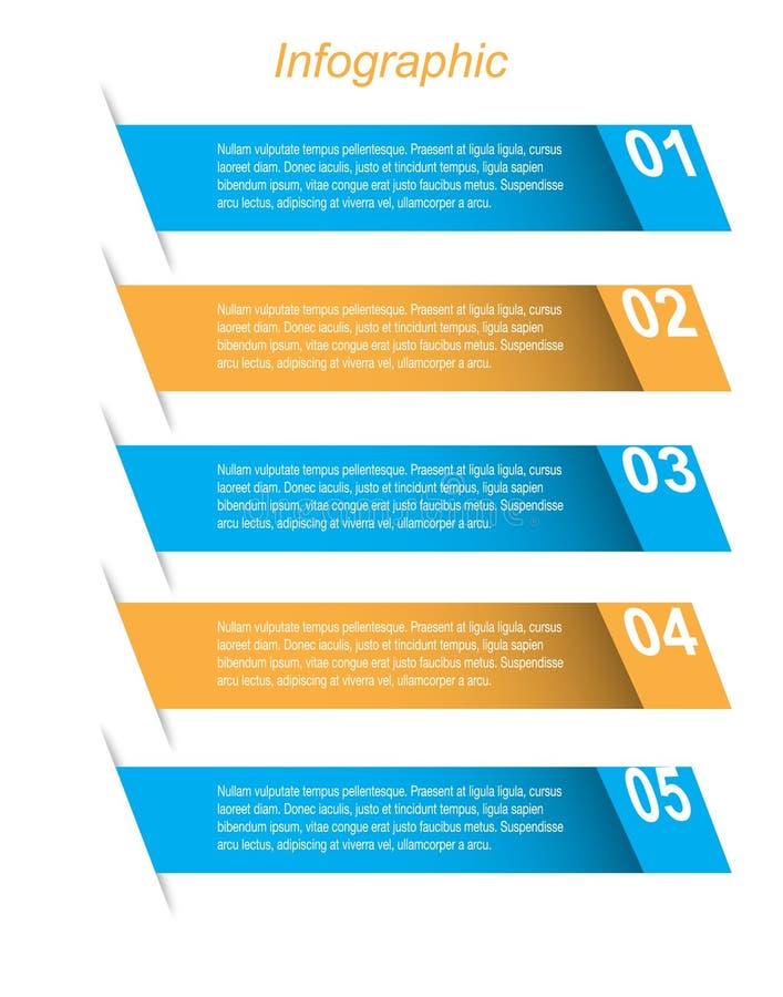 信息图表设计模板 皇族释放例证